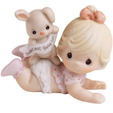 Precious Moments Nursery Decor Baby Gifts The Sweetest Baby Bisque Porcelain Figurine