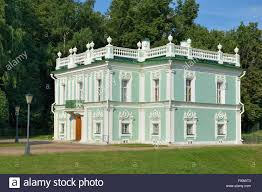 light green color moscow italian house a small two story building light green