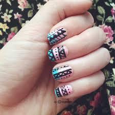 megoosta fashion nail art ombre tribal