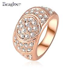 beagloer new arrival engagement ring gold color women rings