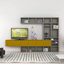 tv wall mounting ideas with floating wooden multimedia stand