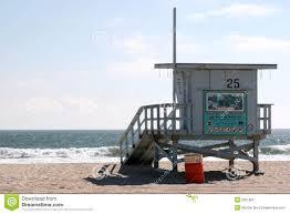 life guard house at santa monica beach stock photography image