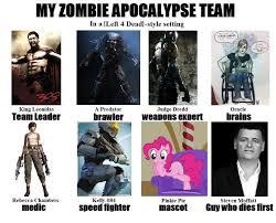 My Zombie Apocalypse Team Meme Creator - my zombie apocalypse team by pskullv on deviantart