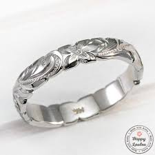 hand engraved rings images 14k gold hand engraved wave edge ring with hawaiian old english design jpg