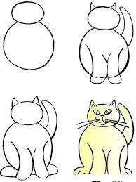 imágenes de gatos fáciles para dibujar tutorial para aprender a dibujar a un gato paso por paso dibujo de