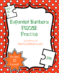 expanded form number puzzles printable teach junkie
