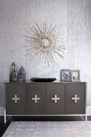 silver metallic wallpaper contemporary dining room muse