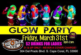 blacked out friday glow party at the o bar in cape coral the o bar cape coral