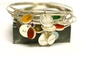 personalized charm custom bangle charm bracelet personalized bridesmaid gift