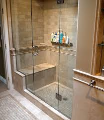 showers for small bathroom ideas tiled shower enclosures with seat marble inlay tile floor and