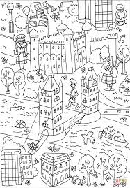 tower bridge and tower of london coloring page free printable