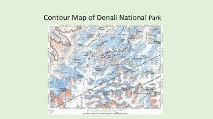 denali national park map denali national park alaska ppt