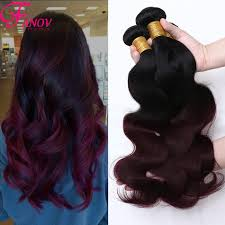Red Blonde Hair Extensions by 6a Ombre Brazilian Virgin Hair Body Wave 1b 99j Burgundy Ombre