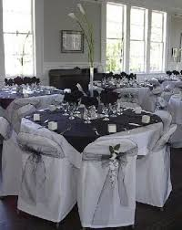 black and white reception area weddings and things
