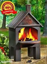 Chiminea With Pizza Oven Chiminea Outdoor Fireplace Fire Pit Grill Patio Heater Cooking Bbq