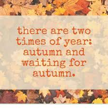 Autumn Meme - there are two times of year autumn and waiting for autumn meme