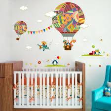 air balloon bear penguin giraffe cartoon home decor wall
