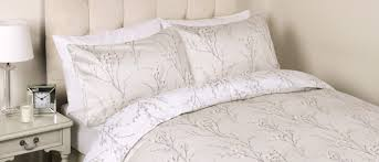 willow dove grey printed duvet cover laura ashley