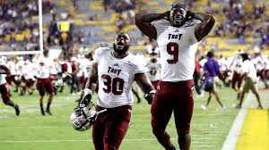 college football troy stuns no 25 lsu no 10 wisconsin holds