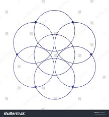 simple sacred geometry flower life ancient stock vector 722968741