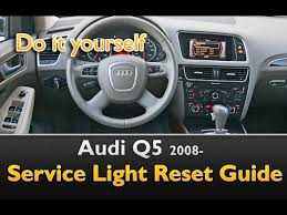 audi service interval reset audi q5 service light interval reset guide