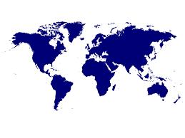 World Map Poster Large Cerca A La Medianoche Nombres Actuales De Las Naciones Proféticas
