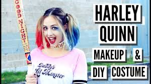 Harley Quinn Halloween Costume Diy Easy Diy Harley Quinn Squad Makeup Hair Costume