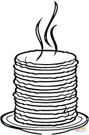 pancakes coloring page for pancake pages glum me