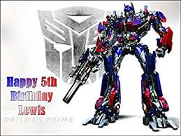 a4 transformers optimus prime personalised edible icing birthday