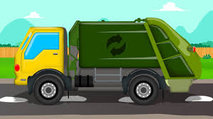 video monster trucks garbage truck formation and uses video for kids cartoons