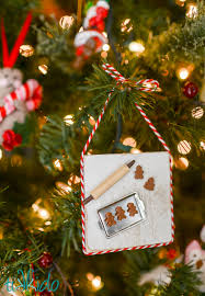 miniature gingerbread baking ornament tutorial tikkido
