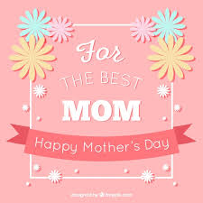 flowers for mothers day pink background with decorative flowers for mother u0027s day vector