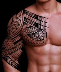 chest and half sleeve tattoos aztec chest half sleeve tattoos