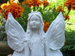 fairy statue meditating fairy sun worshipping fairy garden