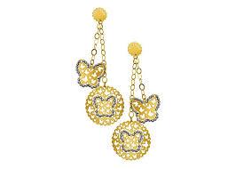 d damas gold earrings farfasha damas brands