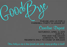 going away party invitation template leaving party invitation