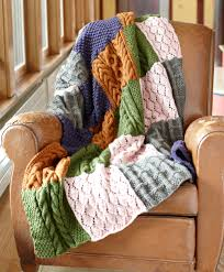 Knitted Cushions Free Patterns Free Knitting Pattern Patchwork Sampler Throw Todo Pattern