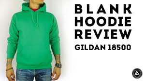 blank pull over hoodie review gildan heavy blend youtube