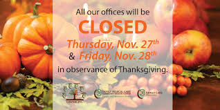 offices closed for thanksgiving change inc