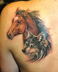cool sparrow tattoos wolf and horse man tattoo horses pinterest wolf horse and