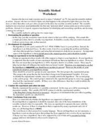 controls and variables worksheet scientific method pinterest