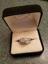 Zales Wedding Rings Sets by Zales Kay U0027s Princess Cut Quad Diamond Engagement Wedding Ring Set