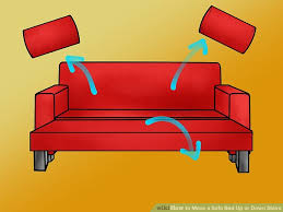 Disassemble Sofa Bed How To Move A Sofa Bed Up Or Down Stairs 9 Steps With Pictures