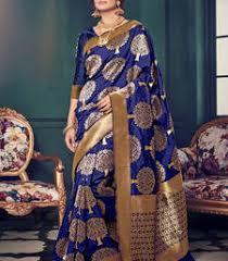 Buy Royal Blue Pure Silk Kanchipuram Sarees Kanchi Pattu Sarees Kanjivaram Silk Online