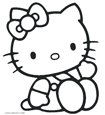 pumpkin kitty coloring pages cute pictures free printable