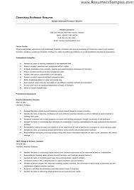 Sample Resume Of Assistant Professor by Resume For Asst Professor