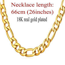 new trendy necklace images Gold color necklace chain men jewelry father gift wholesale 5 jpg