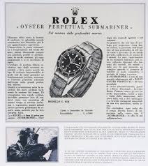 rolex ads 2015 rolex submariner 5508 1959 horlogerie exquise old ads