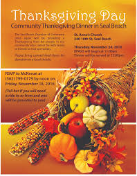 thanksgiving 201 thanksgiving dinner seal beach chamber of commerce