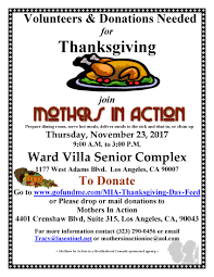 mothers in thanksgiving day senior feed holman united